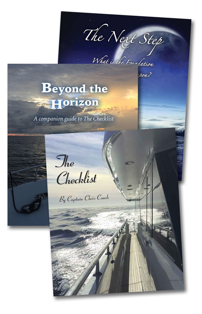 Books by Captain Couch, The Checklist, Beyond the Horizon and The Next Step