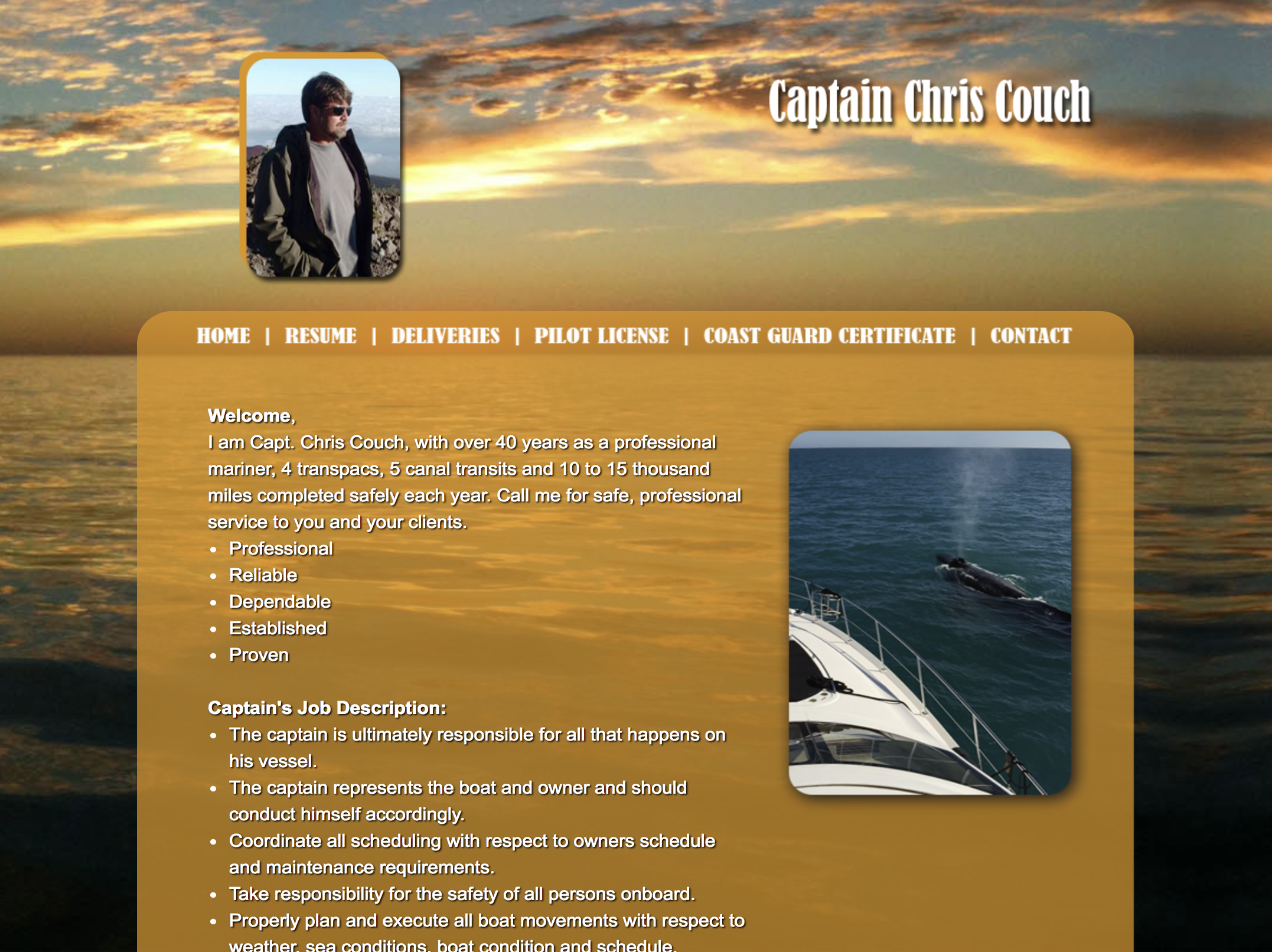Captain Couch Website