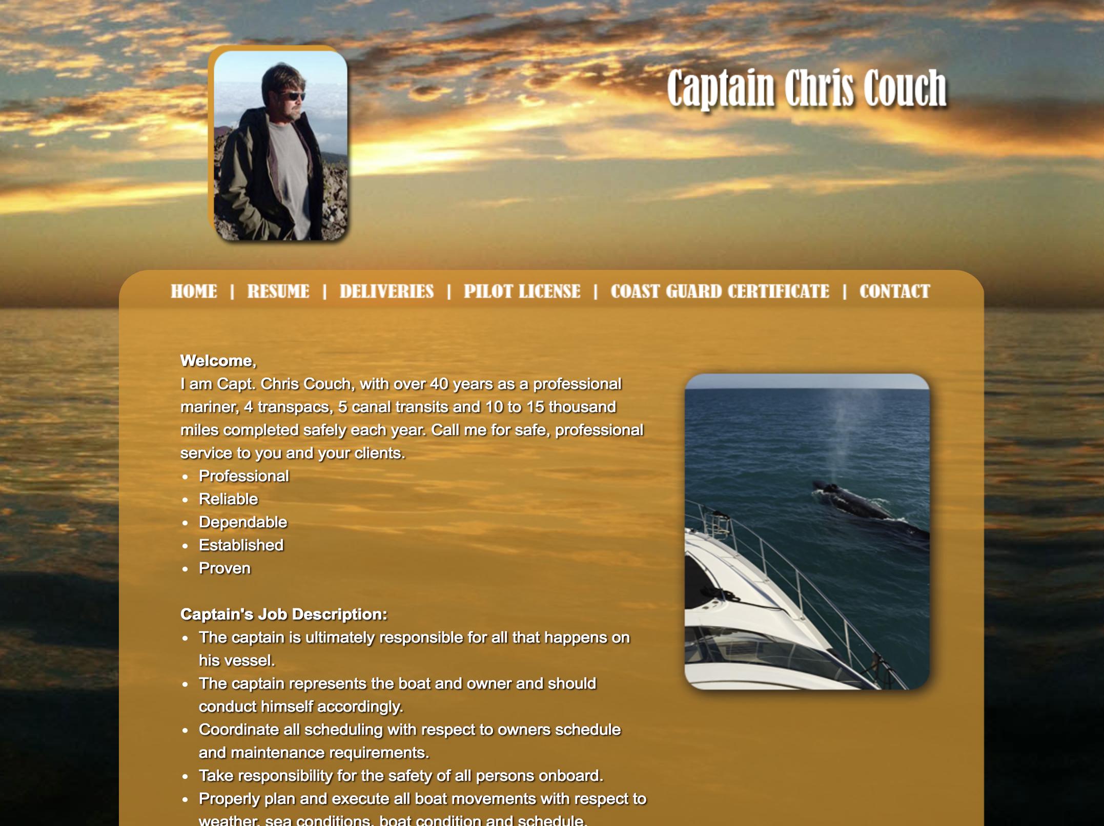 Captain Couch Website