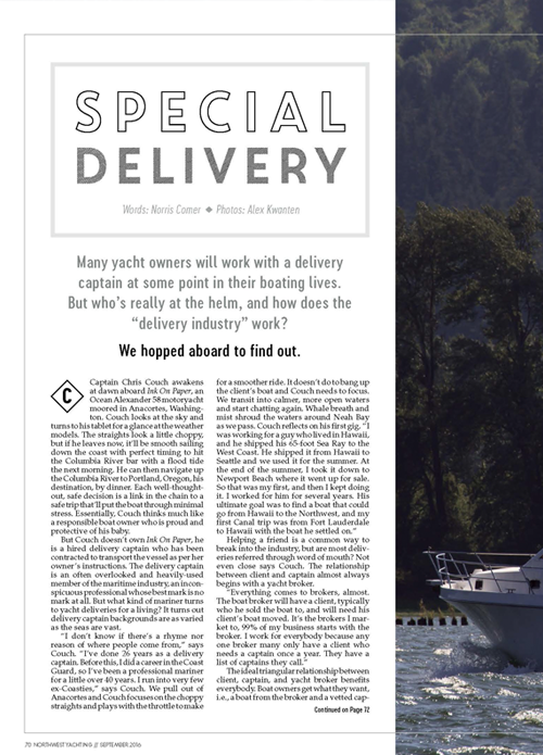 Special delivery article about Captain Couch